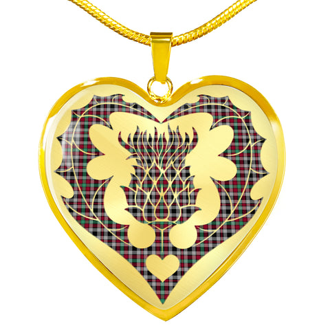 Borthwick Ancient Tartan Luxury Necklace Luckenbooth Thistle TH8