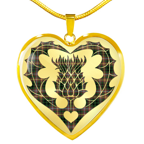 Buchanan Hunting Tartan Luxury Necklace Luckenbooth Thistle TH8