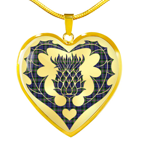 Image of Baird Modern Tartan Luxury Necklace Luckenbooth Thistle TH8