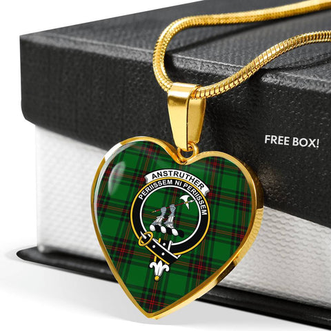 Anstruther Tartan Crest Heart Necklace