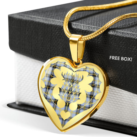Bell of the Borders Tartan Luxury Necklace Heart Shape Thistle