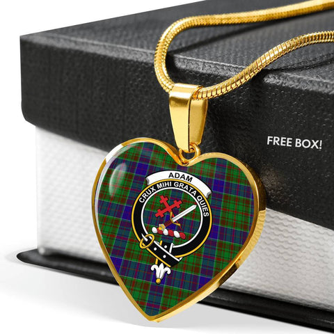 Adam Tartan Crest Heart Necklace