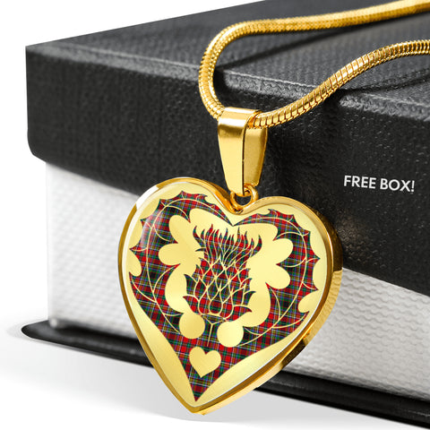 Anderson of Arbrake Tartan Luxury Necklace Heart Shape Thistle