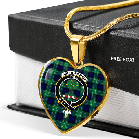 Abercrombie Tartan Crest Heart Necklace