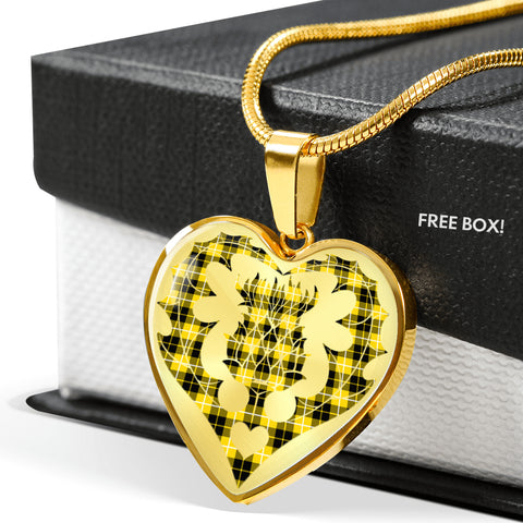 Image of Barclay Dress Modern Tartan Luxury Necklace Heart Shape Thistle