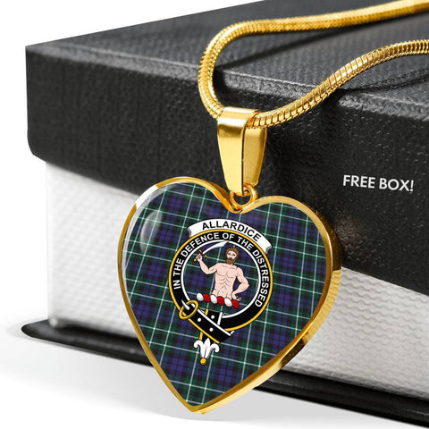 Allardice Tartan Crest Heart Necklace