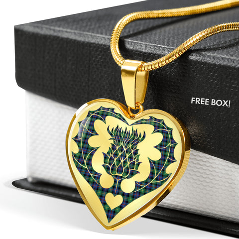 Farquharson Ancient Tartan Luxury Necklace Luckenbooth Thistle | Scottishclans.co