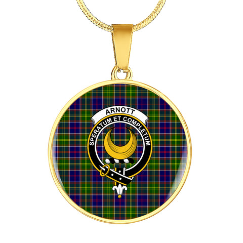 Arnott Tartan Crest Circle Necklace