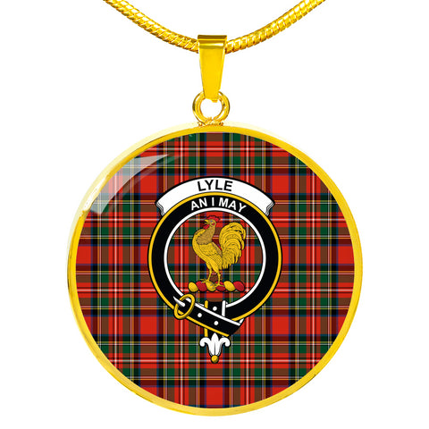 Image of Lyle Tartan Crest Circle Necklace HJ4