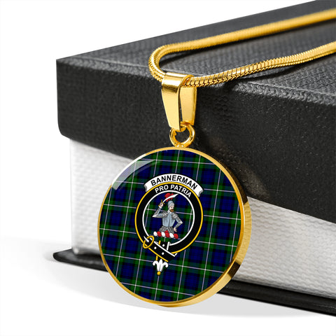 Image of Bannerman Tartan Crest Circle Necklace