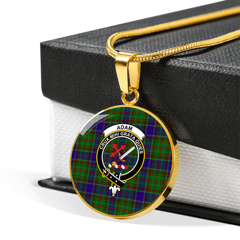 Adam Tartan Crest Circle Necklace