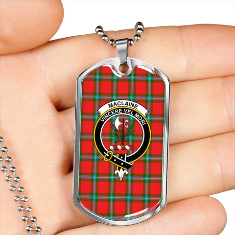 Image of MacLaine of Loch Buie Tartan Dog Tag HJ4
