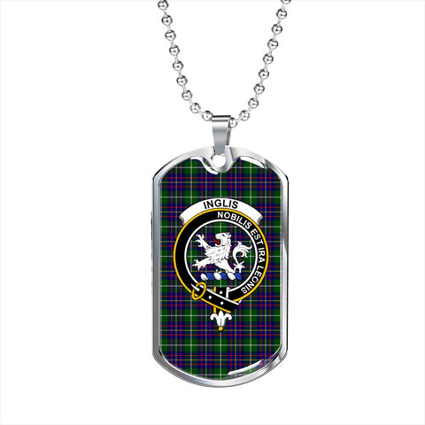 Image of Inglis Modern Tartan Dog Tag
