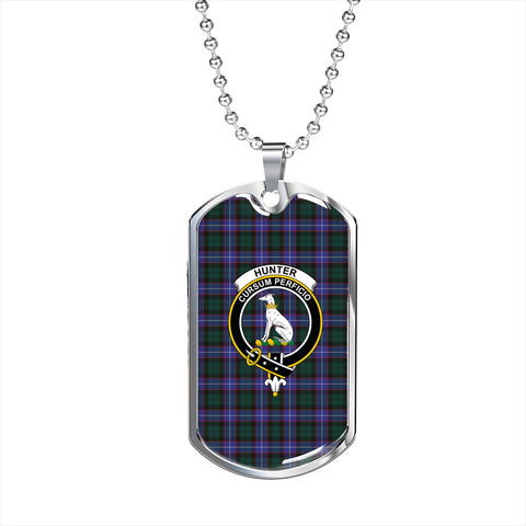 Hunter Modern Tartan Dog Tag