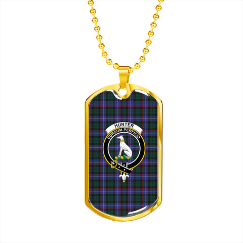 Hunter Modern Tartan Dog Tag Hj4