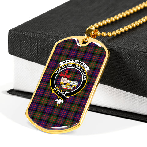 Image of MacDonald of Sleat Tartan Dog Tag HJ4