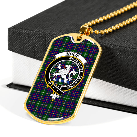 Image of Inglis Modern Tartan Dog Tag HJ4