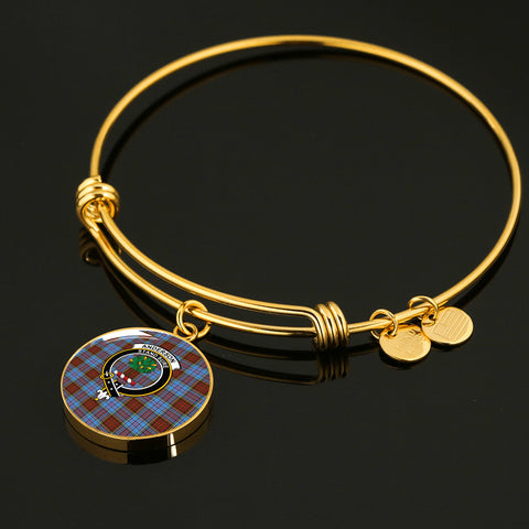 Anderson Modern  Tartan Crest Circle Bangle HJ4