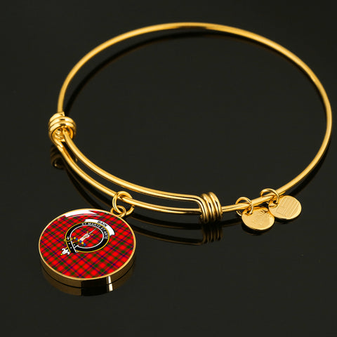 Bain  Tartan Crest Circle Bangle
