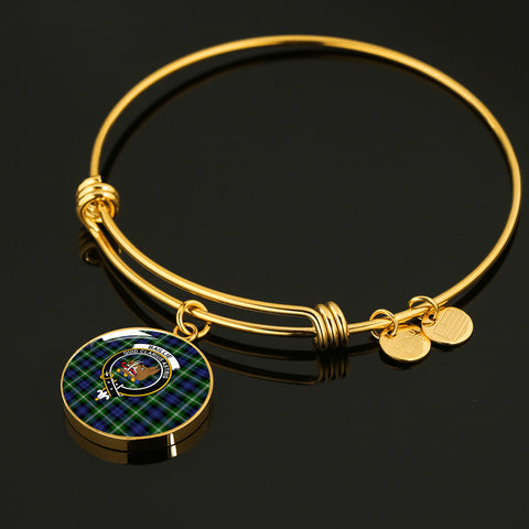 Image of Baillie Modern  Tartan Crest Circle Bangle HJ4