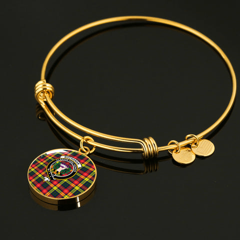 Image of Buchanan Modern  Tartan Crest Circle Bangle HJ4