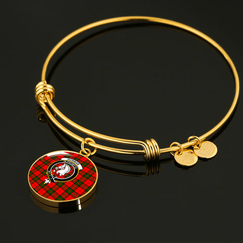 Dunbar Modern  Tartan Crest Circle Bangle HJ4