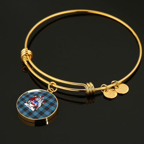 Angus Ancient Tartan Crest Circle Bangle