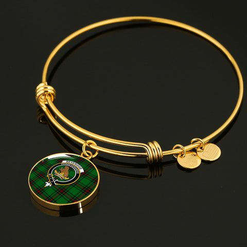 Beveridge  Tartan Crest Circle Bangle