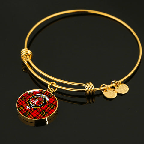 Brodie Modern  Tartan Crest Circle Bangle HJ4