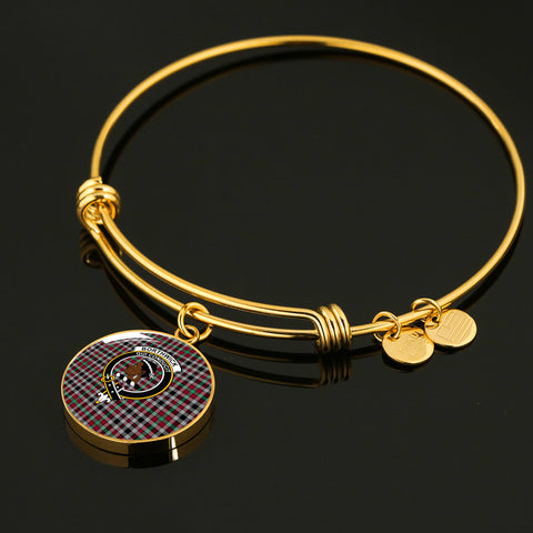 Borthwick Ancient  Tartan Crest Circle Bangle HJ4