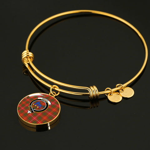 Bruce Modern  Tartan Crest Circle Bangle HJ4