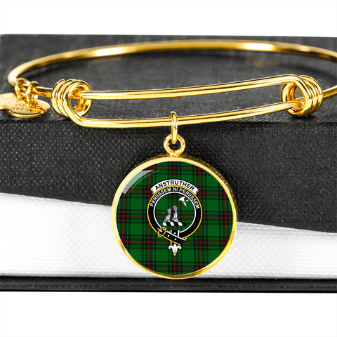 Anstruther  Tartan Crest Circle Bangle HJ4