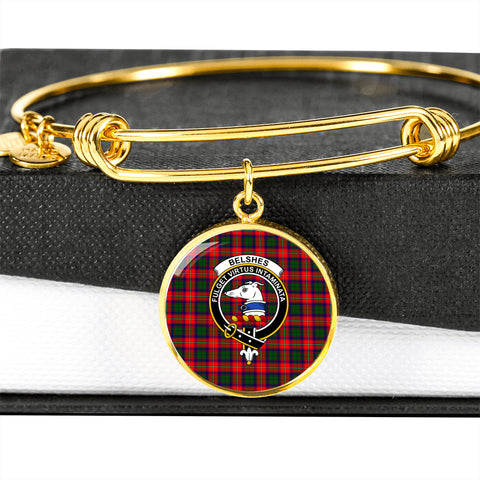 Belshes  Tartan Crest Circle Bangle HJ4