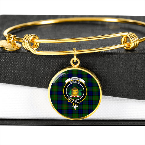 Dundas Modern  Tartan Crest Circle Bangle HJ4