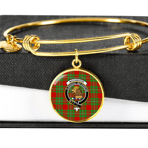 MacGregor Modern  Tartan Crest Circle Bangle HJ4