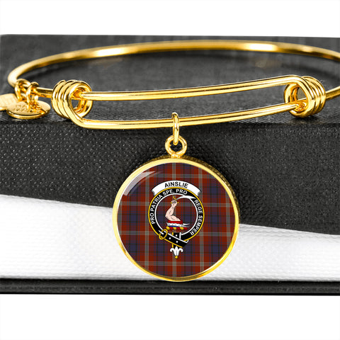 Ainslie Tartan Crest Circle Bangle HJ4