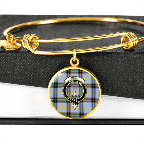 Bell of the Borders  Tartan Crest Circle Bangle HJ4