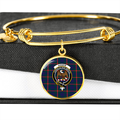 Agnew Modern  Tartan Crest Circle Bangle HJ4