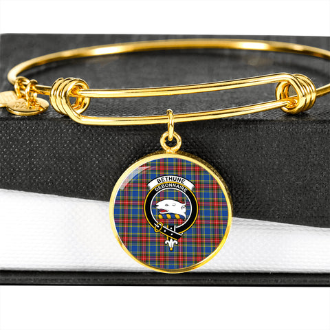 Bethune  Tartan Crest Circle Bangle