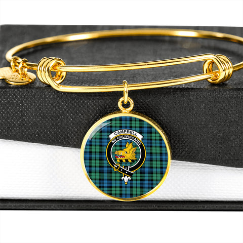 Image of Campbell Ancient 01  Tartan Crest Circle Bangle HJ4