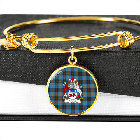 Angus Ancient Tartan Crest Circle Bangle HJ4