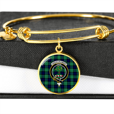 Abercrombie Tartan Crest Circle Bangle HJ4