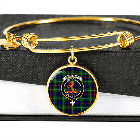 Sutherland II  Tartan Crest Circle Bangle HJ4