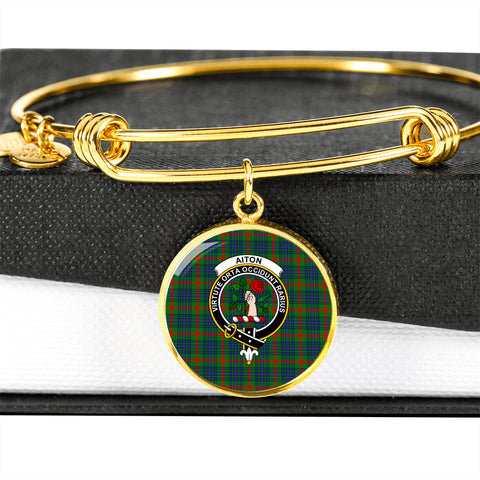 Aiton Tartan Crest Circle Bangle