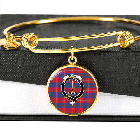 Blane Tartan Crest Circle Bangle