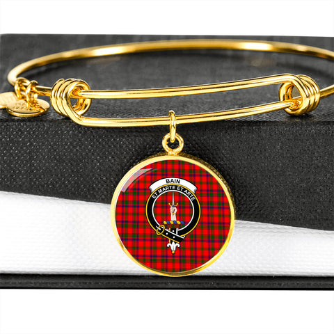 Bain  Tartan Crest Circle Bangle HJ4