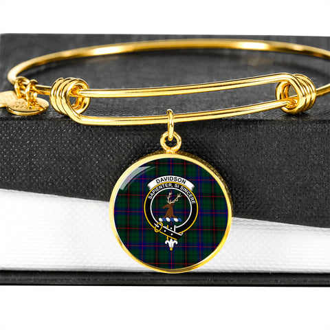 Davidson Modern  Tartan Crest Circle Bangle HJ4