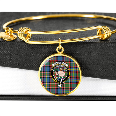 Aikenhead  Tartan Crest Circle Bangle