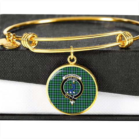 Arbuthnott  Tartan Crest Circle Bangle