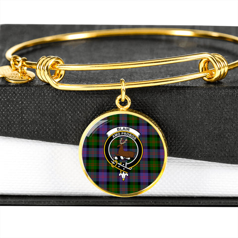 Blair Modern  Tartan Crest Circle Bangle HJ4